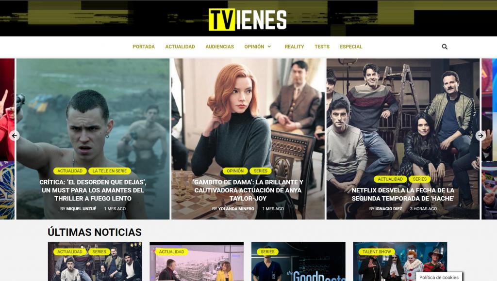 TVienes, el diario digital de La Bombilla Media, alcanza los 3,2 millones de usuarios únicos